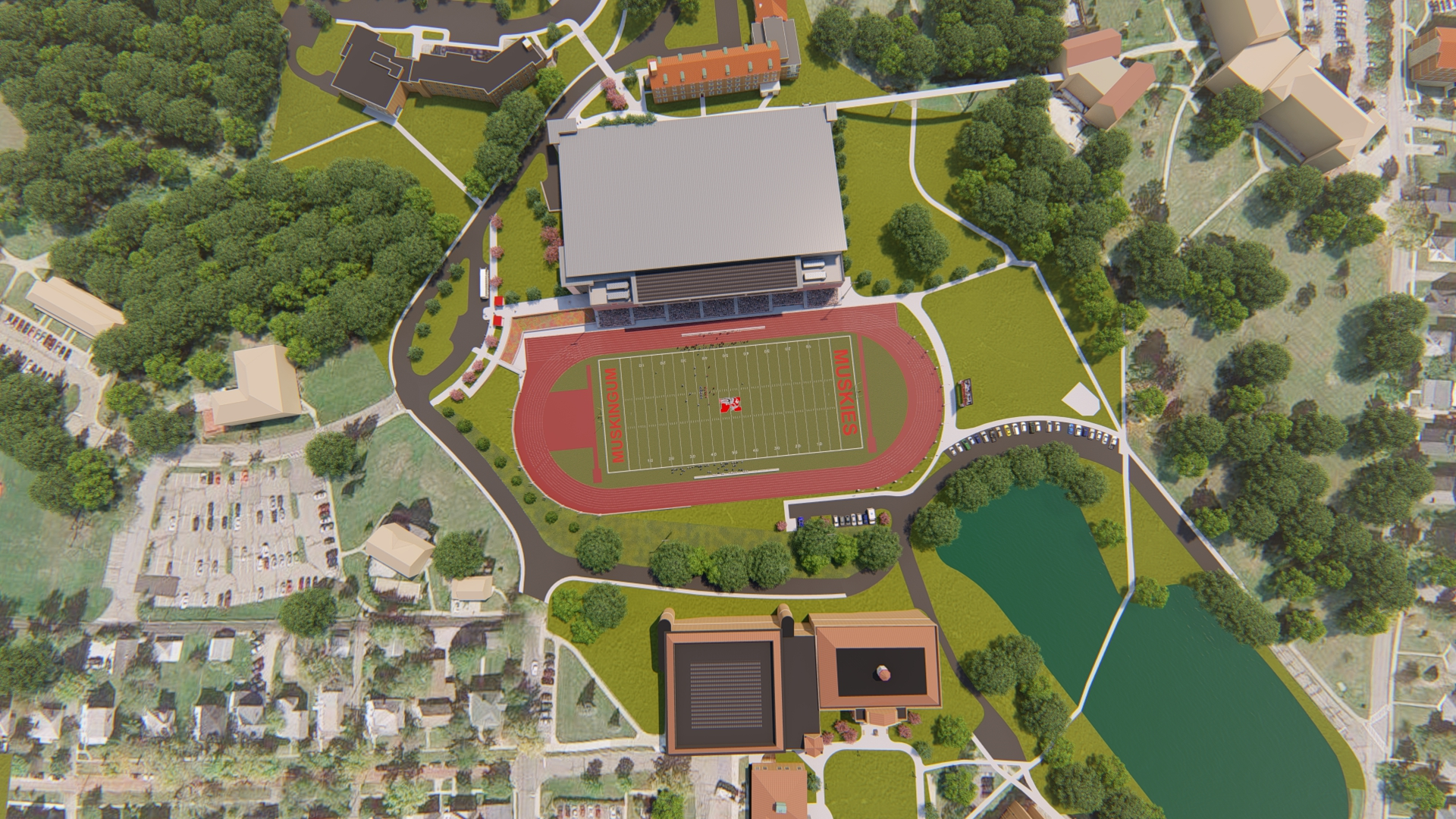 birds eye view rendering of the new HWC