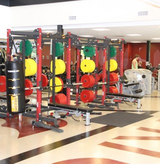 new fitness machines and equipment pictured inside the fitness level of the Chess Center