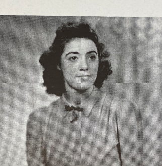 annie glenn scanned photo from yearbook from her time at MU