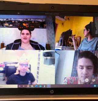 theatre students on a zoom call