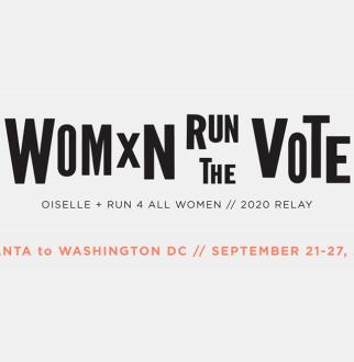 women run the vote logo