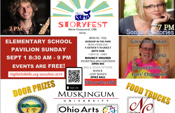 storyfest poster with events