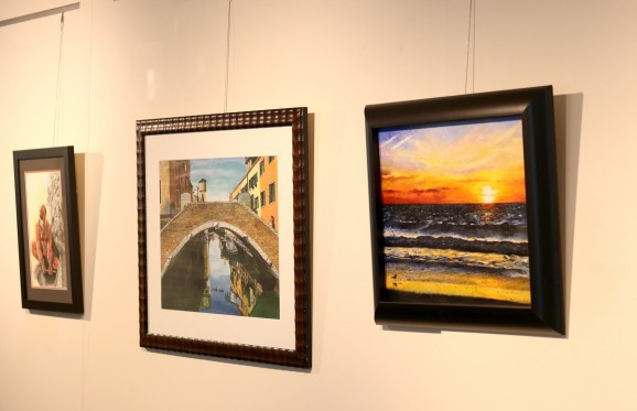 Artwork displayed in gallery