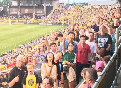 muskies in the crowd at a Columbus Crew game