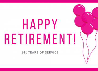 happy retirement graphic
