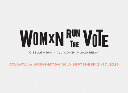 women run the vote logo